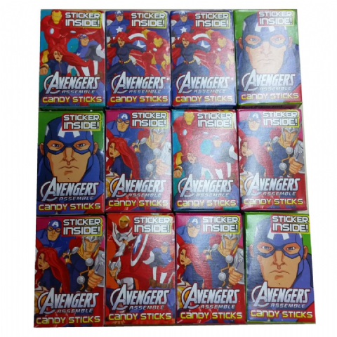 Superman - Sweet Candy Sticks Boxes 16g & Mini Stickers